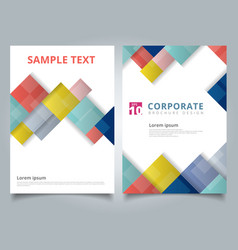 Brochure design template flyer cover geometric vector