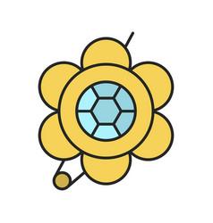 Brooch color icon vector