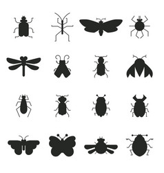 Bug silhouettes vector
