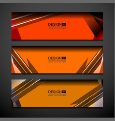 Business banner orange background vector