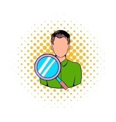Businessman and magnifying glass icon vector image