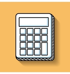Calculator math education line icon vector