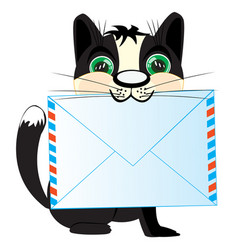 Cat with letter vector