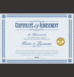 Certificate or diploma retro vintage template 6 vector