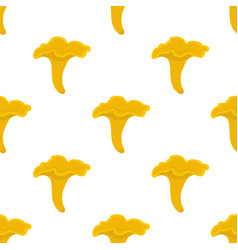 Chanterelle mushroom seamless pattern vector
