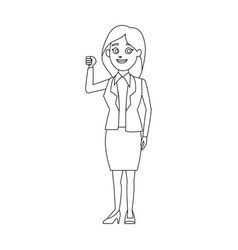 character woman politician standing wearing skirt vector image