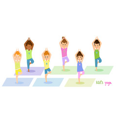 Children do yoga vector