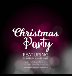 christmas party glowing background vector image