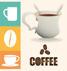 Coffee cup poster cup beverage vector
