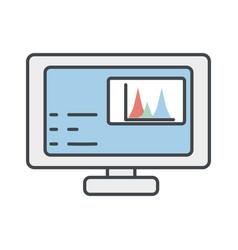 computer screen symbol vector image