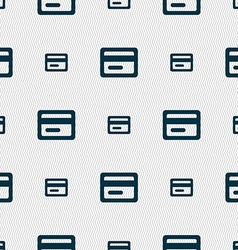 credit card icon sign Seamless pattern with vector image