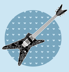 cute grunge abstract guitar vector image