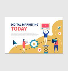 digital marketing - flat design style colorful web vector image