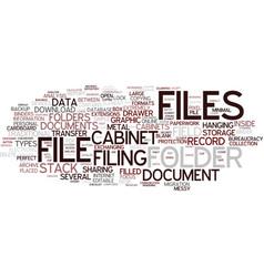 Files word cloud concept vector