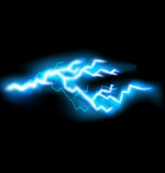 flashes lightning isolated on transparent vector image
