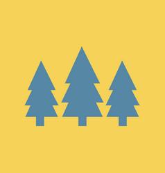 Flat icon fir trees vector