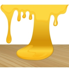 Flowing yellow honey vector image