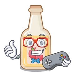 Gamer apple cider in character shape vector