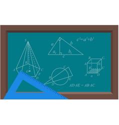 Geometry shape and math formula vector