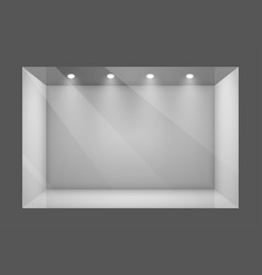 glass empty show window of shop vector image