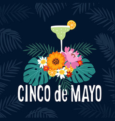 hand drawn mexican holiday cinco de mayo party vector image