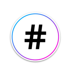 Hashtag icon isolated on white background social vector