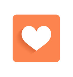 Heart like flat icon or object for design vector