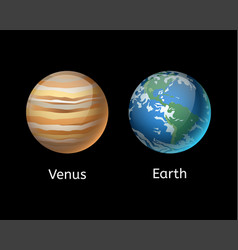 High quality venus system planet galaxy astronomy vector