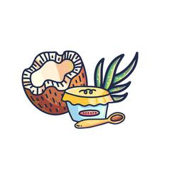 homemade coconut dessert vector image
