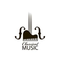 Icon of violin and piano vector