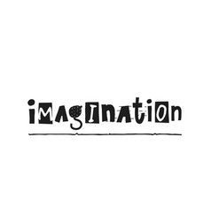 Imagination shirt quote lettering vector