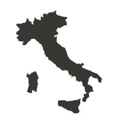 Italy map isolated silhouette vector