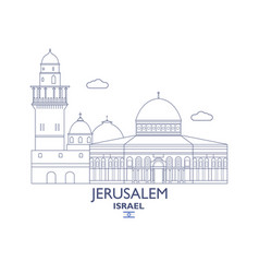 jerusalem city skyline vector image