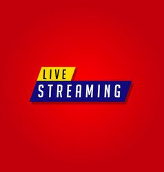Live streaming template design vector