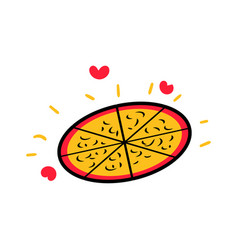 love pizza and food logo icon design vector image