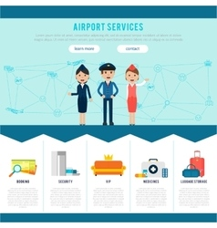 Main Airport Page Template vector
