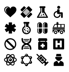 Medic Icons Set on White Background vector