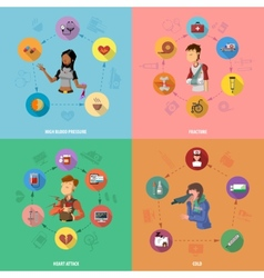 Medicine disease design concept set vector