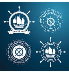 nautical label2 vector image