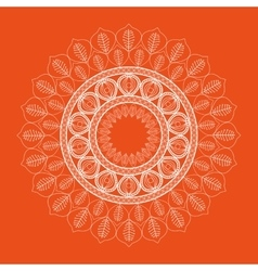 Orange Mandale icon Bohemic design vector