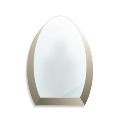 oval decorative wall mirror isolated icon vector image