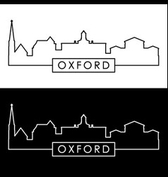 oxford mississippi skyline linear style vector image