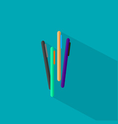pen icon set of great flat icons design concepts vector image