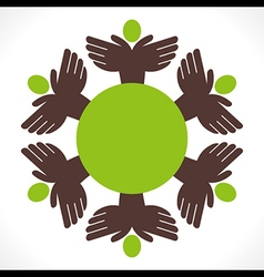 People unity concept design vector
