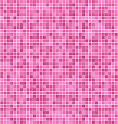 Pink pixel mosaic background vector