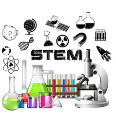 Poster design for stem education vector