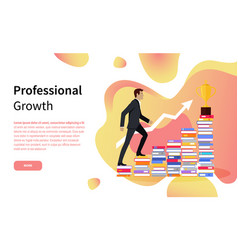 Professional growth online page business training vector