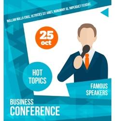 Public speaking poster vector