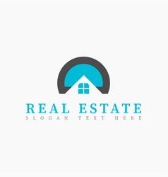real estate initial letter d or letter o logo vector image