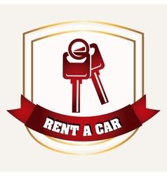 rent a car vector image